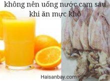 ăn mực khô uống nước cam